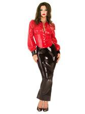 Honour Women's Sexy Skirt in Latex Rubber Black Long & Lean Hobble Design