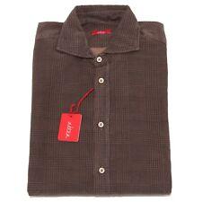 2376P camicia uomo marrone ALTEA camicie  shirt men  cotone pesante