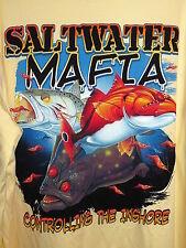 Saltwater Mafia L/S Performance Fishing Tee Shirt Triple Threat Inshore Fish