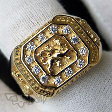 ORIGINAL RASTA ONELOVE 18K GOLD PLATED .925 STERLING SILVER RING