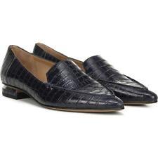 Starland Navy Crocodile Print Leather Franco Sarto Loafers