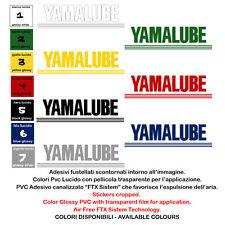 Adesivi prespaziati yamalube sticker sponsor moto cropped helmet 2 pezzi cm. 20