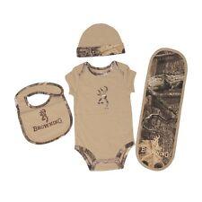 BROWNING BUCKMARK & SANDSTONE TAN MOSSY OAK INFINITY CAMO BABY INFANT SET - 4 PC