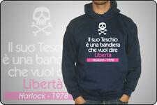 """Sweatshirt UNISEX O KIND CAPTAIN HARLOCK ARCADIA """"Die seine schädel è ein flagge"""