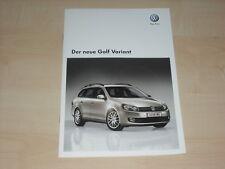 37981) VW Golf VI Variant Österreich Prospekt 06/2009