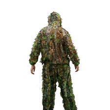 Pantalon & veste camouflage chasse feuille sniper 3D herbe costume pas cher x