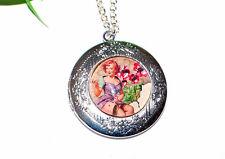 Medaillon Halskette +++ Pin Up Girls +++ viele Motive +++ Foto Anhänger +++ Neu