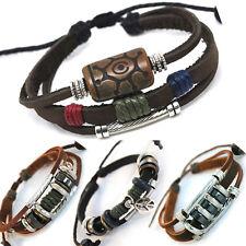 TIBET SERIE 33! Leder Armband Bracelet Leather Unisex!Surferarmband Herren Damen