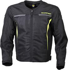 Scorpion Men's DRAFTER Ventilated Mesh Sport Jacket w/ Liner (Hi-Viz Yellow)
