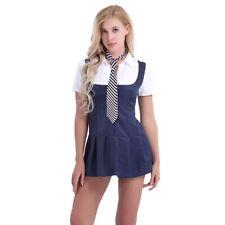 2 Piece Adult Women's School Girl Cosplay Fancy Dress Up Uniform Outfit Costume