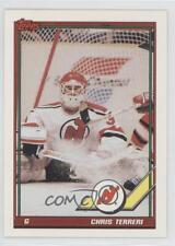 1991-92 Topps #422 Chris Terreri New Jersey Devils Hockey Card