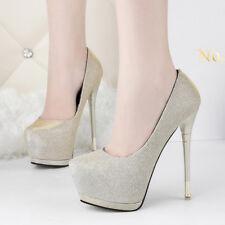 decolte scarpe invernali 15  stiletto oro strass simil pelle comode 9542
