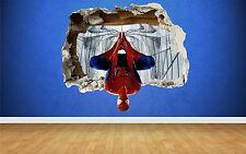 Spider Man 3d Efecto Roto pegatinas de pared, Marvel Estilo transferencia Arte Spiderman