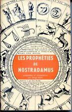 LES PROPHETIES DE NOSTRADAMUS présentées  interprétées par S Hutin Poche 1966 b