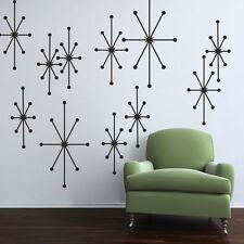 Inspiration Atomic Starbursts Wall Decal Geometric Living Room Vinyl Mural Decor