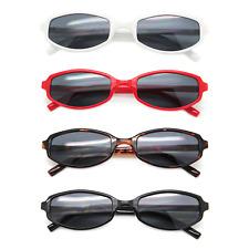 Trendy Retro Gafas de Sol Moda Plástico Fino Marcos Lente Negra Mujeres Ahumadas