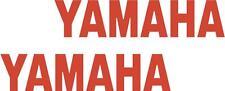 x2 80mm Yamaha Stickers (MOREin EBAY SHOP) Motorbike Decals Red