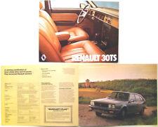 Renault 30 TS 1978 Original Canadian Market Brochure
