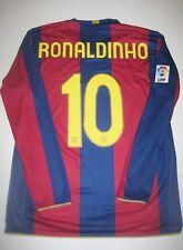 FC Barcelona Ronaldinho Jersey Kit Brazil 2007 2008 Long Sleeve Nike Shirt LS