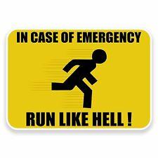 2 X 10 Cm gracioso señal de advertencia pegatina de vinilo calcomanía Zombie Fun portátil coche # 9583