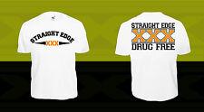 Straight Edge T-Shirt SXE XXX xvx HARDCORE PUNK MINOR THREAT HC Black Flag Vegan