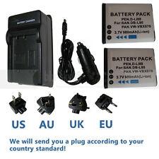 Battery/charger for Sanyo DB-L80 VPC-CG10EXBK-B VPC-CG10EXP-B VPC-CG20 VPC-CG21