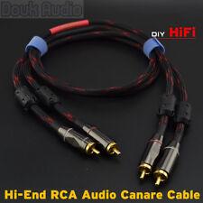 HiFi Copper Stereo 2×RCA to 2×RCA Male Audio Video Interconnect Signal Cable DIY