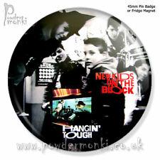 "NEW KIDS ON THE BLOCK ""HANGIN' TOUGH"" ~ Retro Music Badge/Magnet [45mm]"