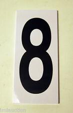 "Progress Lighted Address Sign Number 8 Black White Background 5 x 2-1/4 x 1/4"""