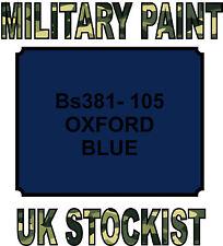 BS381-105 OXFORD BLUE MILITARY PAINT METAL STEEL HEAT RESISTANT ENGINE  VEHICLE