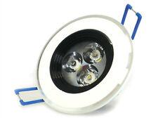 Encastré au plafond LED encastré 3W 220V Cadre blanc chaud Phare blanc et noir
