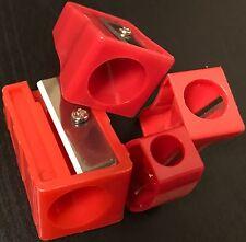 Conjunto de 4 Jumbo agujero Sacapuntas para Lápices gigante 8mm,11 .5mm, 15mm y 17mm