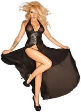 S-Noir Handmade - Tüll-Kleid mit Corsagen-Schließe ouvert schwarz - XS-3XL