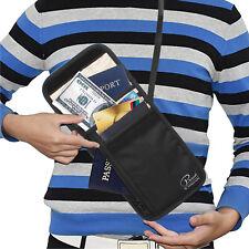 Waterproof Passport Holder Travel Wallet – Luxsure Zipper Bag with Neck Strap AU