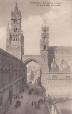 * PALERMO - Via Matteo Bonello con Cattedrale