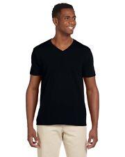 Gildan Tee Shirt T 4.5 oz SoftStyle V-Neck Men's Short Sleeve Basic G64V NEW