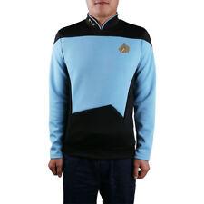 Cosplay Star Trek TNG Shirt Starfleet Command Uniform Star Trek TNG Uniform Blue