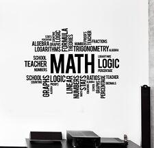 Vinyl Wall Decal Math Words Cloud Art School Decor Science Stickers (ig5137)