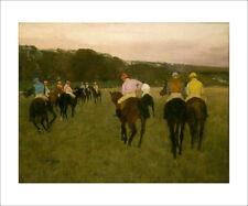 Degas - Horserace in Longchamp - fine art print horses jockey - various sizes