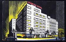 Long Beach CA~1940's LAFAYETTE HOTEL~ AUTO LOBBY