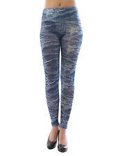 Leggings femmes longue haute couleur Pantalon opaque jeans-muster leggings