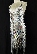 Da NeeNa M038A Cabaret Robe De Danse Chainmaille Chainmail Round Dress  XS-XL