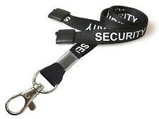 SIA seguridad cuello correa Cordón De Seguridad Breakaway Negra Con Metal Disparador Clip