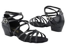 Women's West Coast Swing Salsa Ballroom Dance Shoes 1 inch low Heel 5008FT