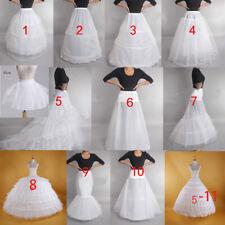White Wedding Petticoat Prom Dress Bridal Slip Hoop Skirt Underskirt Crinoline 1