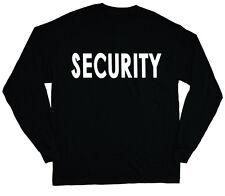 long sleeve t-shirt for men security design uniform costume tee shirt