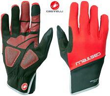 Rouge//Noir Castelli SCALDA PRO plein doigt Hiver Cyclisme Gants