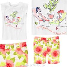 Nwt Gymboree 5 6 7 8 Desert Dreams Girls 2pc Sun Top Watercolor & Bermuda Shorts