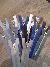 """4"""" Brass Jean Zipper #5 Assorted Colors YKK"""