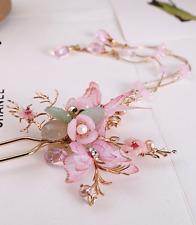 traditioneller handgemachter japanischer Luxus Kimono Blumen  Haarschmuck Spange